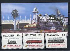 Malaysia 304/06 Block 3 postfrisch / Eisenbahn ............................1/637