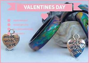 Valentine's Day Special Genuine Black Agate Colour Changing Mood Rings