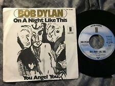 "BOB DYLAN on a night like this / you angel you 7"" ED1 ASYLUM REC Germany PS 1974"