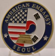 "2"" Challenge Coin Seoul South Korea American Embassy United States Great Seal"