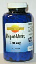 Phosphatidylserine 200 mg 200 capsules -  Memory Support, Brain Health