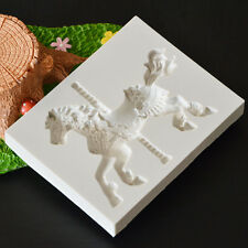 Christmas Carousel Horse Silicone Fondant Cake Mold Emboss Cutters Sugar Craft