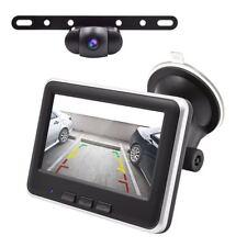 Backup Camera Wireless License Plate Mount Car Rear View Camera w/ Monitor Kit