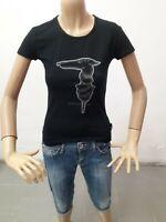 Maglia TRUSSARDI JEANS Donna T-shirt Woman Polo Femme Taglia size XS Cotone 8605