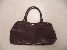 Hi End KATE SPADE Large Brown Textured Leather Satchel Carryall Bag - Textured