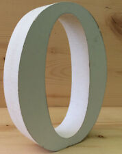 """Whitewashed Wood Letter  """"O"""" 5 inches Tall Free Standing 1 inch Thick"""