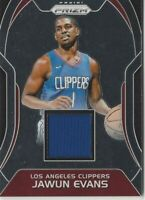 2017-18 Panini PRIZM Jawun Evans Relic Jersey Patch Rookie Card RC LA Clippers