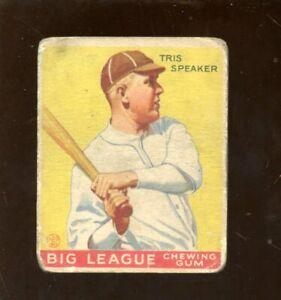 1933 Goudey Baseball Card #89 Tris Speaker