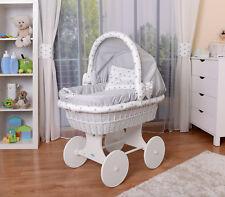 WALDIN Baby Bollerwagen,Stubenwagen,komplett mit Zubehör,XXL NEU !!! Grau/Sterne