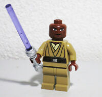 Lego Mace Windu 7868 8019 Star Wars Clone Wars Minifigure w/ Lightsaber