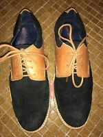 Cole Haan Great Jones Suede Leather Saddle Oxfords  Black/Tan Men's Size 7 Great