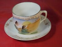 ANTIQUE CHILD'S CUP & SAUCER with NURSERY RHYMES MADE in GERMANY #29