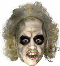 Morris Costumes Beetlejuice 3/4 Vnyl Hand Paint Mask With Hair Attached. RU4516
