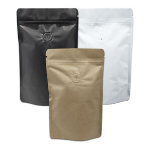 Pure Aluminum Foil Bags with Valve for Zip Coffee Storage Lock Moisture Proof