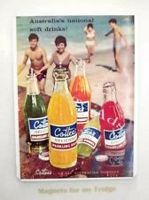 VINTAGE 1962 COTTEE'S SPARKLING DRINKS 'Beach Scene'  FRIDGE MAGNET - M768 LA