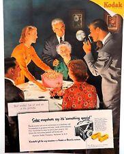 Vintage 1951 Kodak Tourist camera film advertisement print ad art