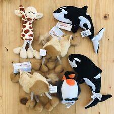 Puppet Company Finger Puppets Bundle Soft Plush Toys Camel Giraffe Whale Penguin