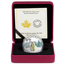 2017 Canada $20 1 oz Proof Silver Snow Trees with Venetian Glass In OGP SKU44062