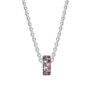 Pandora Charm 791817CZSMX Purple Mosaic Shining Elegance Clip S925 ALE