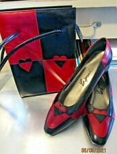 Vintage Margaret J Jerrold leather shoes with rare matching purse b321