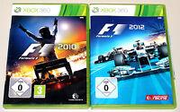 2 XBOX 360 SPIELE BUNDLE - F1 2010 & F1 2012 - FORMULA ONE RACING FORMEL EINS