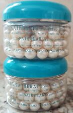 2 containers New Avon Soothing seas Aromatherapy Bath pearls - 2 oz each
