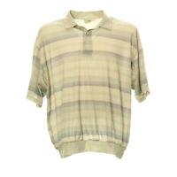 Poloshirt Gr. XL Herren Kurzarm Freizeit Hemd Kragen Muster Retro Look