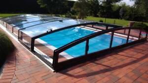 ALBIXON Schwimmbadüberdachung Casablanca Infinity A - 6,46m Carbon