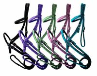 Showman Braided Nylon Bitless Bridle w/ Reins