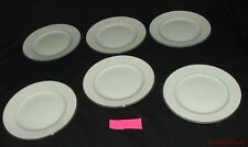 6 Vintage Harmony House Fine China Salad Plates Mary 3835 White Silvertone  #1 R