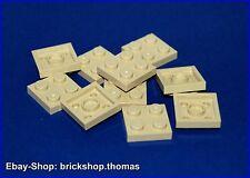 Lego 10 x Platten beige 2x2 - 3022 - Plate tan - NEU / NEW