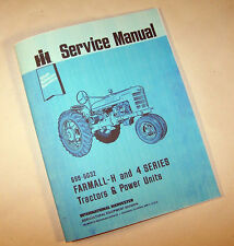 FARMALL H HV SUPER W-4 O-4 I-4 OS-4 TRACTOR SERVICE MANUAL SHOP REPAIR McCORMICK