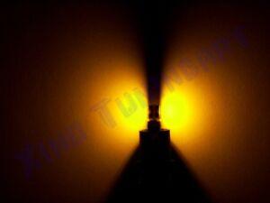 Lampadina LED T5 SMD GIALLI AMBRA LUCI ZOCCOLO tuttovetro CRUSCOTTO CAN-BUS 1,2W