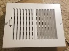 """Air Register Vent Cover Grille Ac Wall Sidewall Ceiling Steel White 8"""" x 6"""""""