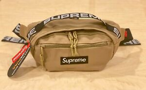 Brand New Supreme Beige Waist Bag Shoulder Bag Fanny Pack Unisex
