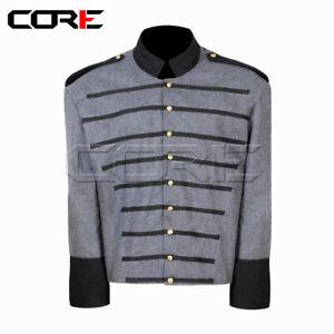 Civil war American Virginia Cavalry Shell Jacket with Black Epaulets Trim