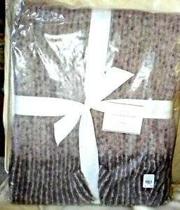New in Original Package POTTERY BARN FAUX MOHAIR OVERSIZED THROW - FIG Purple
