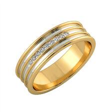 0.14 Ct Natural Diamond Engagement Mens Ring 14K Real Yellow Gold Band Size 11
