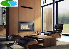 Caminetti a legna grigio salotto