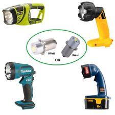 RYOBI ONE+ DeWalt Makita Craftsman 18V LED Replacement Bulb 1W or 5W p13.5s NEW