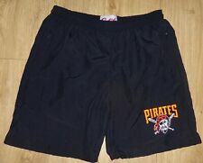 """Pittsburgh Pirates New Black Sports or Casual Shorts Waist Size 34"""",Embroidered"""