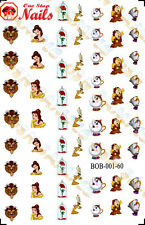 Disney Beauty and the Beast Clear Waterslide Nail Decals BOB-001-60
