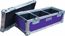 "7"" Single 300 Swan Flight Case Vinyl Record Box (Purple Rigid PVC)"