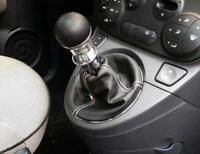 Cuffia leva cambio Fiat nuova 500 vera pelle nera