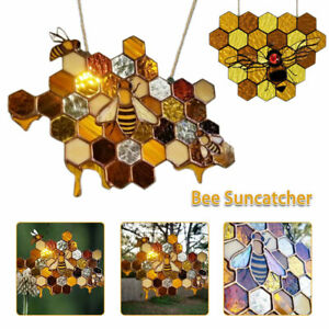 Queen and Bee Protect Honey Bumblebee Windows Wall Hanging Ornament Art Decor