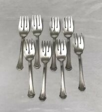 Reed & Barton 8 Pieces Salad/Dessert Forks Marked Pat Appl'd For with monogram N