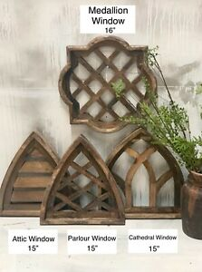 Vintage Inspired Rustic Farmhouse Wooden Window