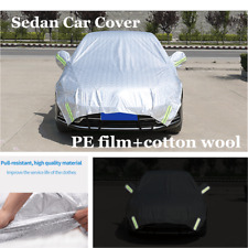 Sedan Universal Car Cover Outdoor Water Proof Rain Sun Shade Dust Half Cover
