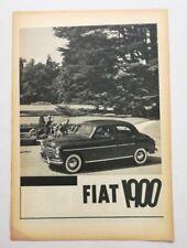 Pubblicità 1960 FIAT 1900 AUTO CAR ITALY advertising publicitè werbung reklame