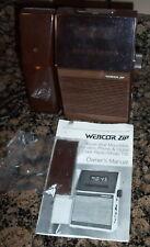 Vintage WEBCOR ZIP Push Button Phone & Clock Radio Model 700